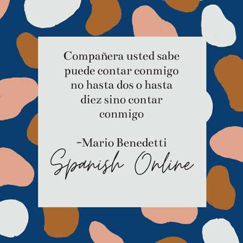 Learn Spanish online listening exersises